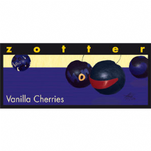 Zotter Cherries With Vanilla Chocolate Bar 60% 70g